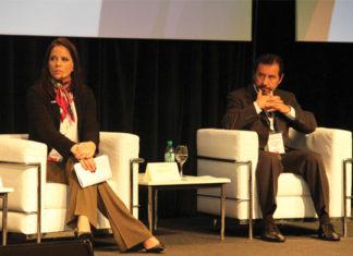 marina Mattar, responsable de Relaciones Institucionales y Sustentabilidad de la Asociación Brasileña de la Industria Química (ABIQUIM), y Miguel Benedetto, director general de la Asociación Nacional de la Industria Química (ANIQ) de México