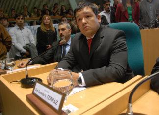 Diputado Gerardo Terraz de la coalición Unión para Vivir Mejor (UPVM, Cambiemos).